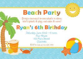 beach party invitation wording cimvitation
