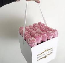 flowers in a box luxury fresh roses in a box box with roses square box