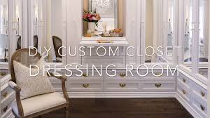 Dressing Room Pictures by Diy Custom Closet Dressing Room Classy Glam Living Youtube