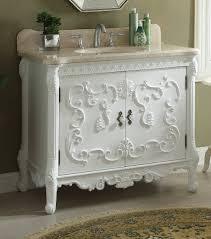 40 inch bathroom vanity french baroque vintage white color 40