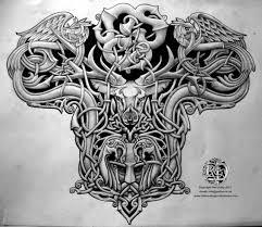 viking warrior back piece tattoo for women