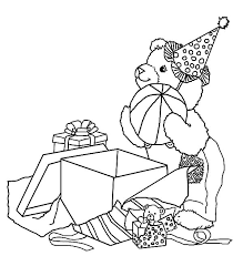 corduroy bear opening present coloring pages batch coloring