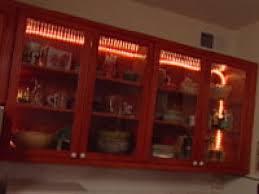 glass door kitchen cabinet lighting installing kitchen cabinet lights hgtv