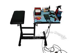 new portable tattoo working table with arm rest act057 aim tattoo