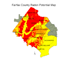 fairfax county map radon fairfax county virginia