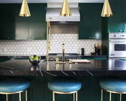 dark green cabinets houzz