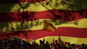 The Spain Flag Hundreds Of Thousands Take To Barcelona Streets Against Catalan
