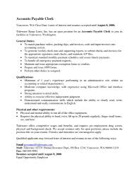 Sample Resume With Summary Of Qualifications Accounts Payable Sample Resume Fuel Driver Sample Resume