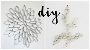 Diy Paper Home Decor by Diy Recycling Craft Home Decor W Toilet Paper Rolls Youtube