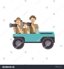african safari car african safari concept family car photo stock vector 443230987