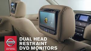 nissan murano accessories 2017 dual head restraint dvd monitors genuine nissan accessories
