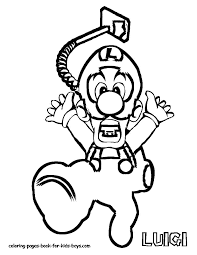 luigi printable coloring pages coloring