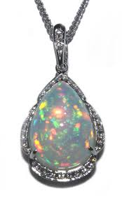 opal pendant necklace images Shop buy and save on opal pendant 14 kt white gold at gemfind jpg