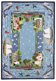 Claire Murray Washable Rugs by Coastal Village 5x7 Hand Hooked Rug Claire Murray