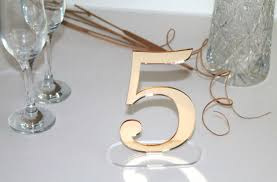 table numbers wedding gold mirror table freestanding numbers wedding centrepiece