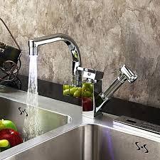 finition de cuisine robinet pour cuisine changement de couleur contemporaine led pull