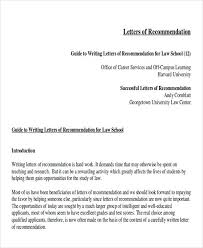 law letter of recommendation law letters of