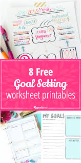 Smart Goals Worksheets 8 Free Goal Setting Worksheet Printables Tip Junkie