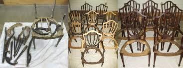 shield back dining room chairs antique restoration michigan professional furniture restoration