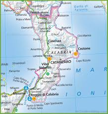 Italy On Map Large Map Of Calabria