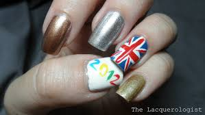 British Flag Nails Olympics Mani And Swatches With Butter London Heavy Medals