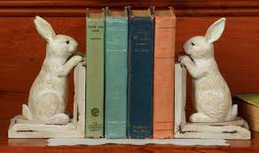 rabbit bookends rabbit decor shoptalk by sturbridge yankee workshop