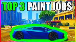 gta 5 top 3 paint jobs u0026 insane car color schemes best rare