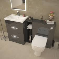 Cheap Bathroom Furniture Sets Patello 1400 Vanity Furniture Set Grey Buy At Bathroom City