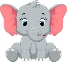 cute baby elephant cartoon sitting u2014 stock vector irwanjos2