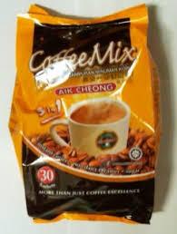 Coffee Mix aik cheong 3 in 1 coffee mix 20g 30pcs aik coffee filstop