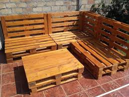 Handmade Outdoor Furniture by Gorgeous Pallet Outdoor Sofa U0026 Table Set