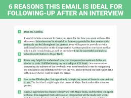 Reason For Leaving Job On Resume by The Perfect Interview Follow Up Letter Business Insider