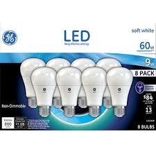 ge led light bulbs ge 9 watt a19 led bulb soft white 8 pk sam s club