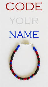 Make Your Own Name Necklace Stem Fun For Kids Code Your Name In Jewelry