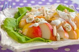 pear salad with blue cheese dressing never enough thyme