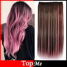 pink hair extensions women hair extensions brown pink high tempreture