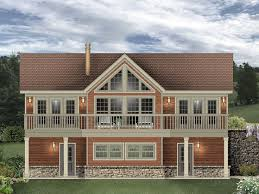 Home Plans For Sloping Lots 006g 0170 Carriage House Plan Designed For A Sloping Lot