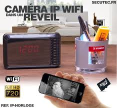 cachee bureau espion com éra cachée ip wifi horloge de bureau 720p
