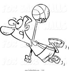printable illustration of a coloring page of a black basketball