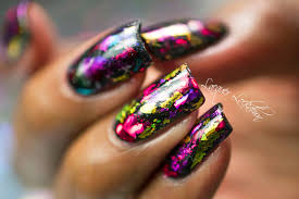lacquer lockdown scattered holographic foil nail art tutorial