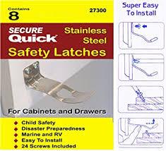 amazon com cabinet door safety latch home u0026 kitchen