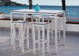 Garden Bar Table And Stools Una Garden Bar Table Modern Garden Furniture Contemporary