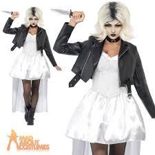 Halloween Costume Bride Bride Chucky Costume Ladies Womens 80s Halloween Fancy