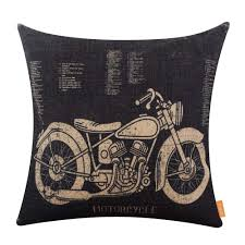 motorcycle home decor linkwell 45x45cm rustic american style motorcycle man cave garage