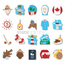 canadian icon set vector image 1949658 stockunlimited