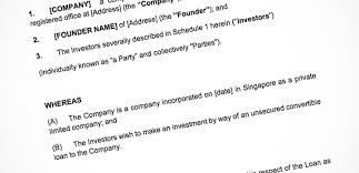 Loan Term Sheet Template Singapore Startups Use These Open Source Investment Templates