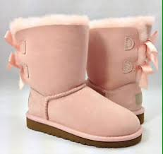 womens pink ugg boots with bows baby pink bailey bow uggs on the hunt