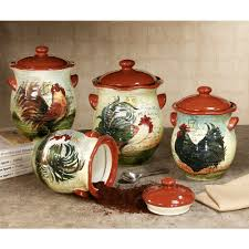 red canisters kitchen decor le rooster kitchen canister set kitchens canister sets and