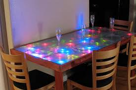 unique dining room ideas unique dining room table ideas with colorful lighting nytexas