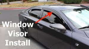 recall on lexus is 250 lexus is250 window visor install youtube